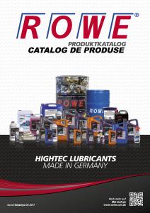 Catalog de produse ROWE